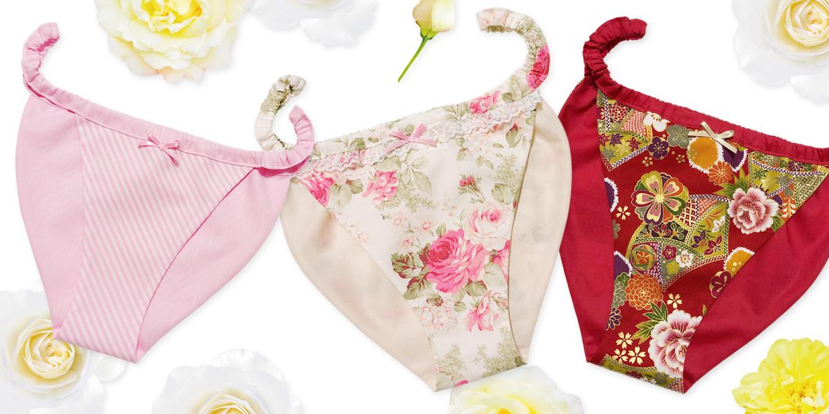 姫風ふんどしパンツ ふんどしパンツ型紙 はごろもショーツ桜 リラックスランジェリー fundoshishorts